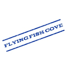 Flying fish cove watermark stamp vector