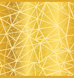 Golden yellow glowing geometric mosaic vector