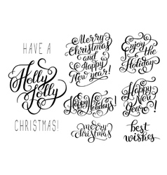 hand lettering christmas phrase design vector image vector image
