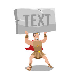 Hero strong hold stone text vector