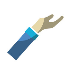 Man arm hand up icon vector