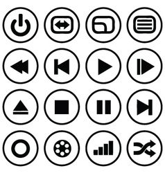 media buttons vector image vector image