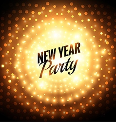 new year party greeting card vector image