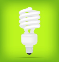 Popular eco green compact fluorescent lamps white vector