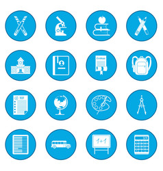School icon blue vector