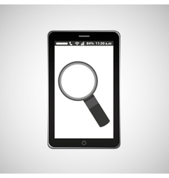 search mobile phone navigation vector image vector image