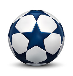 Soccer ball football ball with blue stars vector