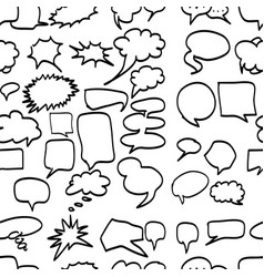 speech bubbles seamless pattern design vector image vector image