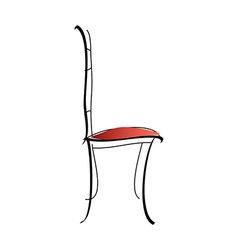 Styled chair vector