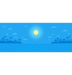 Summer blue flat background vector image