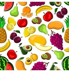 Sweet and juicy fruits seamless pattern vector