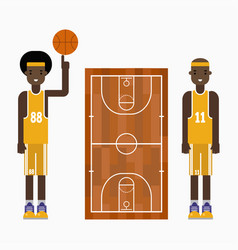 basketball player team character vector image
