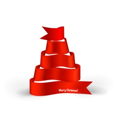 Ribbon christmas tree vector