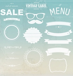 Grunge background with labels vector