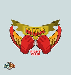 Mixed martial arts logo mma emblem vector