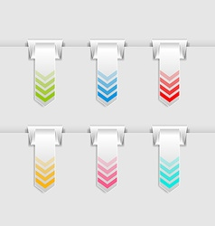 Hung bookmarks vector