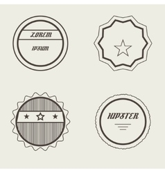 Set of retro stamps and badges vintage vector