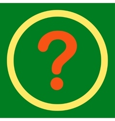 Question flat orange and yellow colors rounded vector