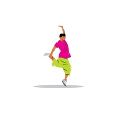 One hip hop acrobatic break dancer breakdancing vector