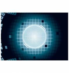 digital glowing sphere vector image