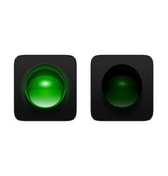 Green traffic lights vector