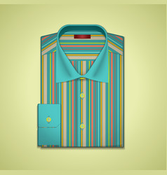 striped shirt vector image