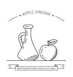 Apple vinegar sauce vector image