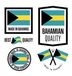 Bagamas quality label set for goods vector