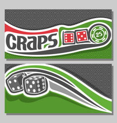 banners for craps gamble vector image