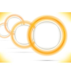 Bright colored rings form a perspective vector image vector image