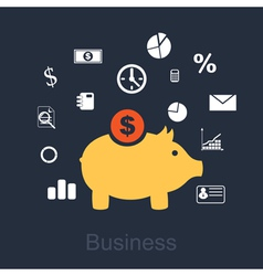 business 2 vector image