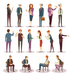 business trainings and coaching icons set vector image vector image