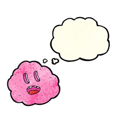 Cartoon spooky cloud with thought bubble vector