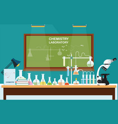 Chemical laboratory science lesson vector