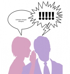 couple whispering secrets vector image vector image
