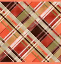 Diagonal tartan seamless texture mainly in brown vector