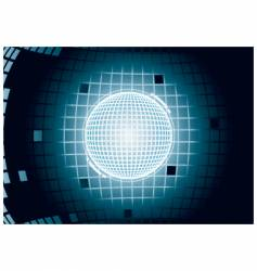 digital glowing sphere vector image vector image