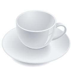 Empty teacup vector