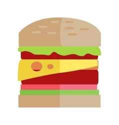 Fast Food Hamburger Concept in Flat Design vector image vector image