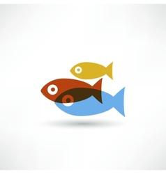 Fish eco icon vector
