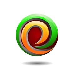 Glossy internet company logo vector