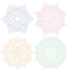 Hand-drawn christmas lace frame mandala vector