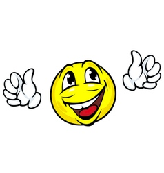 Happy face icon with hands vector
