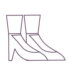 Isolated heels design vector