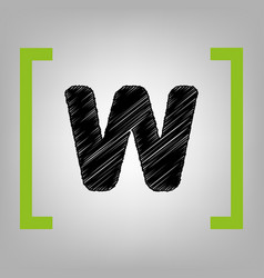 letter w sign design template element vector image