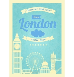 Love london vintage retro poster vector