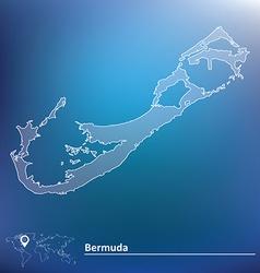 Map of Bermuda vector image
