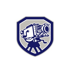 Movie film camera vintage shield vector