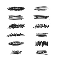 Scribble design elements vector image