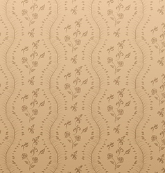 Seamless Floral Damask Wallpaper vector image vector image